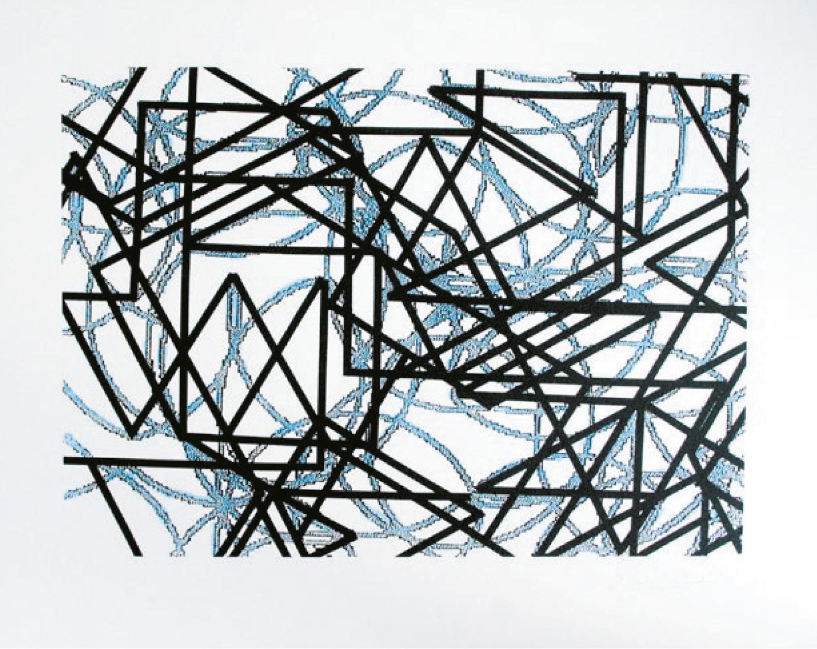 Lot 108 - Morellet François (1926-2016) Composition abstraite, 2005 - Serigraph in colors [...]