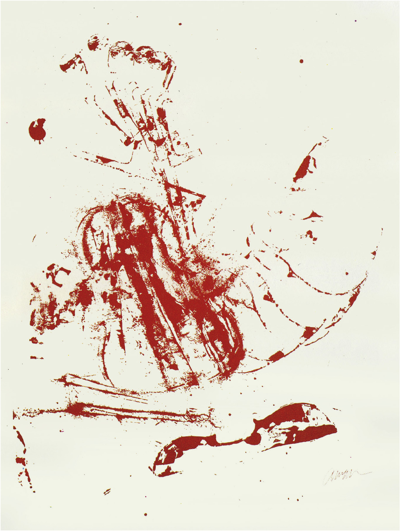 Lot 1 - ARMAN Fernandez (1928-2005) Music Stop N°2, 1971 - Serigraphy in two colors - Signed [...]