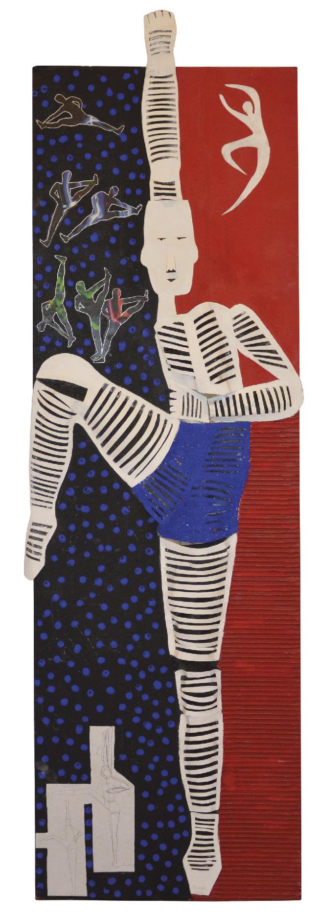 Lot 51 - NIVESE Oscari (1944) Danseur, 2016 - Mixed media - 147 x 47 cm -