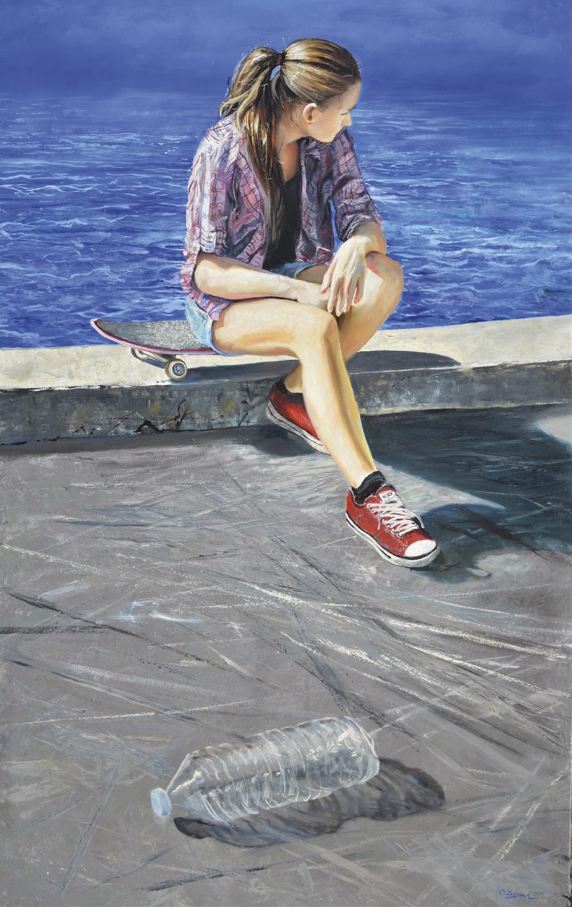 Lot 38 - Legrand Olivier (1954) Futur d'une jeune fille - Acrylic on canvas - Signed lower [...]