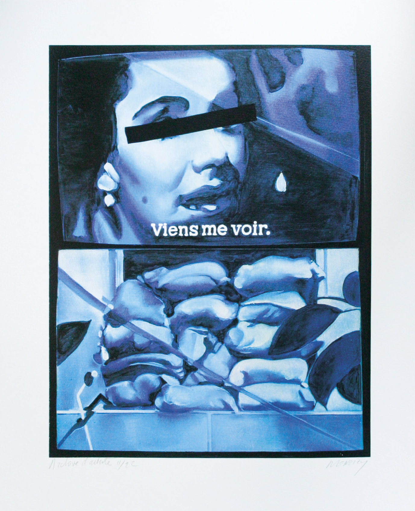 Lot 107 - Monory Jacques (1934) Untitled, 2005 - Serigraph Signed on lower right - 50 x 40 cm -