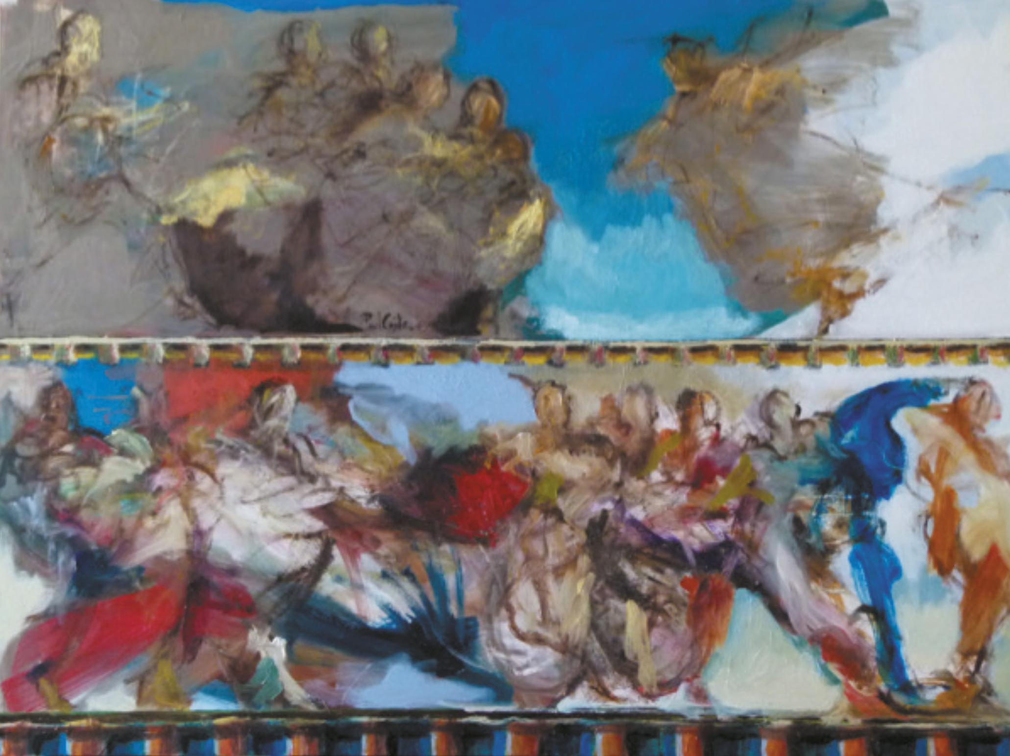Lot 9 - Conte Paul (1947) Scènes de la vie d'un saint - Oil on panel - 60 x 80 cm -