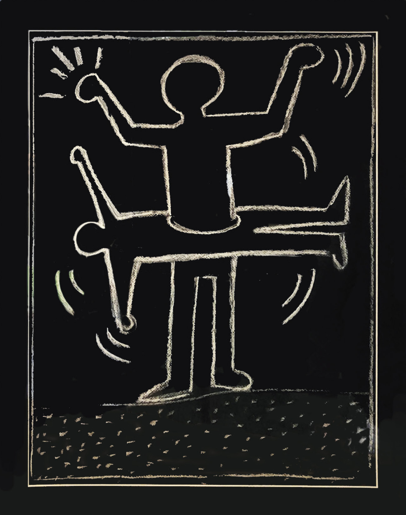 Lot 15 - Haring Keith (1958-1990) Travail dans le métro à New York, 1987 - Mixed media on [...]