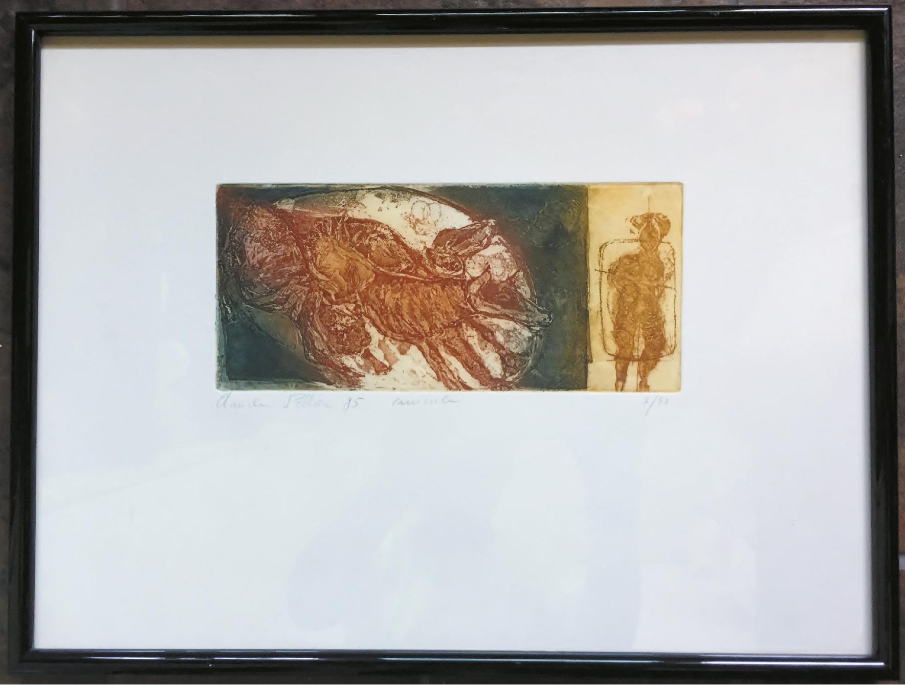 Lot 110 - Pellier ClaudeCanicule - 1985 - Lithograph - 7/50 - 41 x 31 cm -