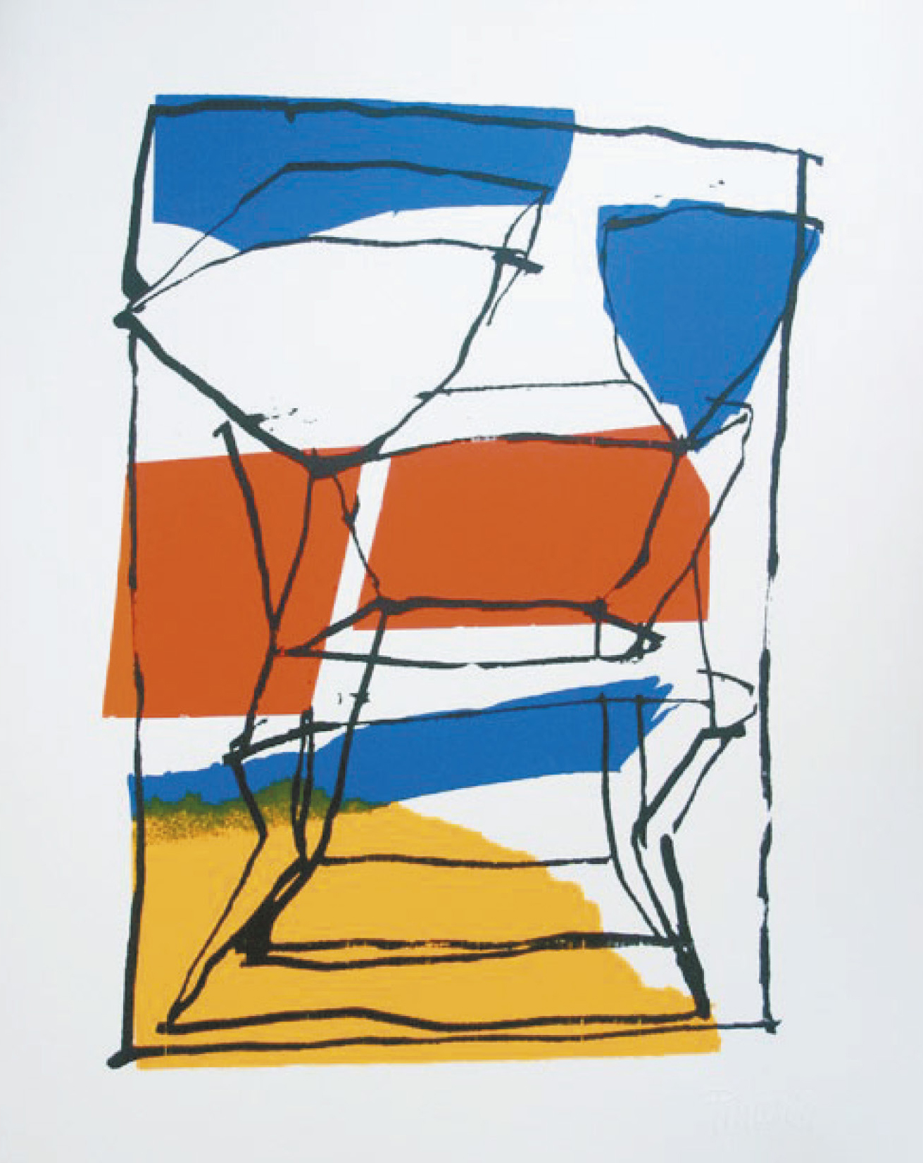 Lot 113 - Pincemin Jean-Pierre (1944) Untitled, 2005 - Serigraph Signed on lower right - 50 x [...]