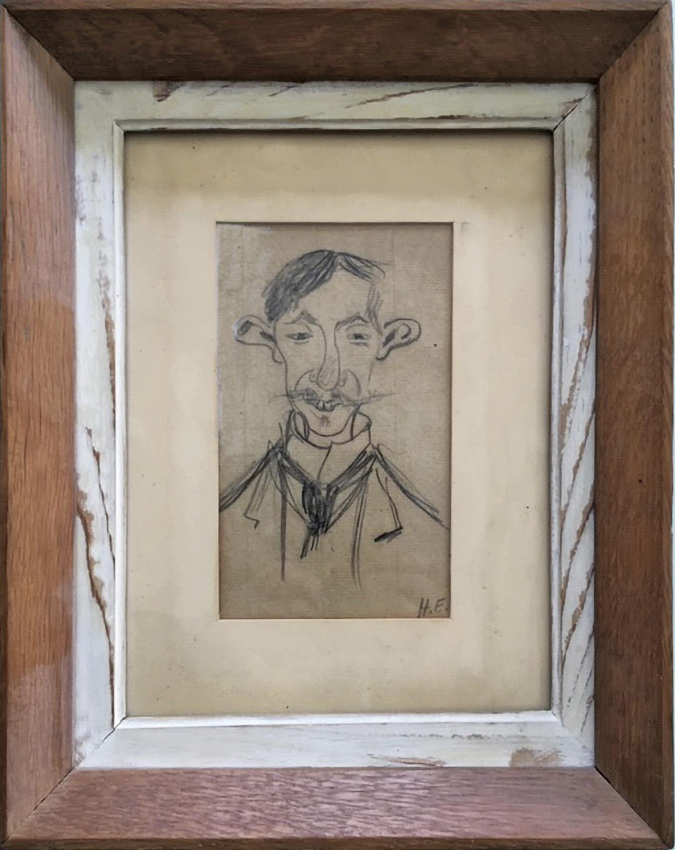 Lot 88 - Evenepoel Henri (1872-1899) Sketch of Mr Crespin a Brussels Glassblower - Drawing - [...]