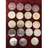 Lot 148 - A group of British commemorative crowns