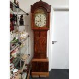 Lot 500 - A 19th Century inlaid mahogany longcase / grandfather clock.