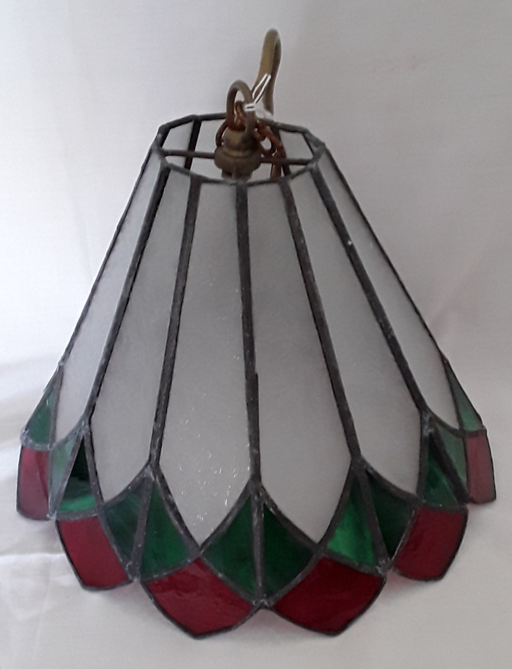 Lot 345 - A Tiffany style ceiling lampshade.
