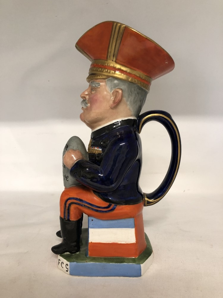 Lot 33 - A toby jug depicting Marshall Joffre.