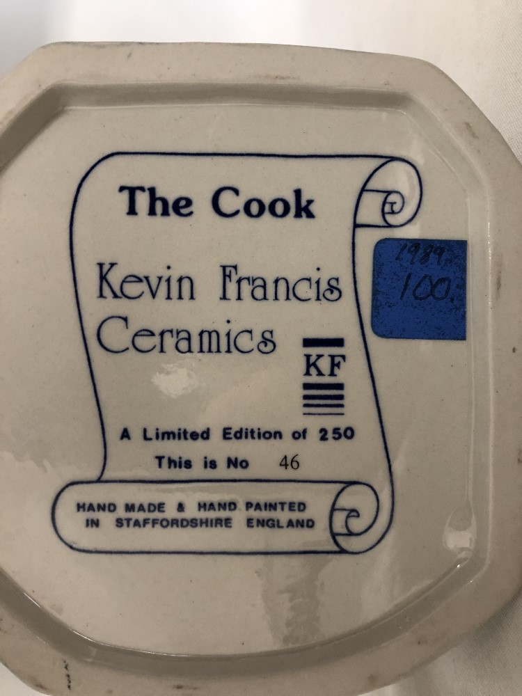 Lot 56 - The Cook Toby by Kevin Francis No 46 of 250 made.