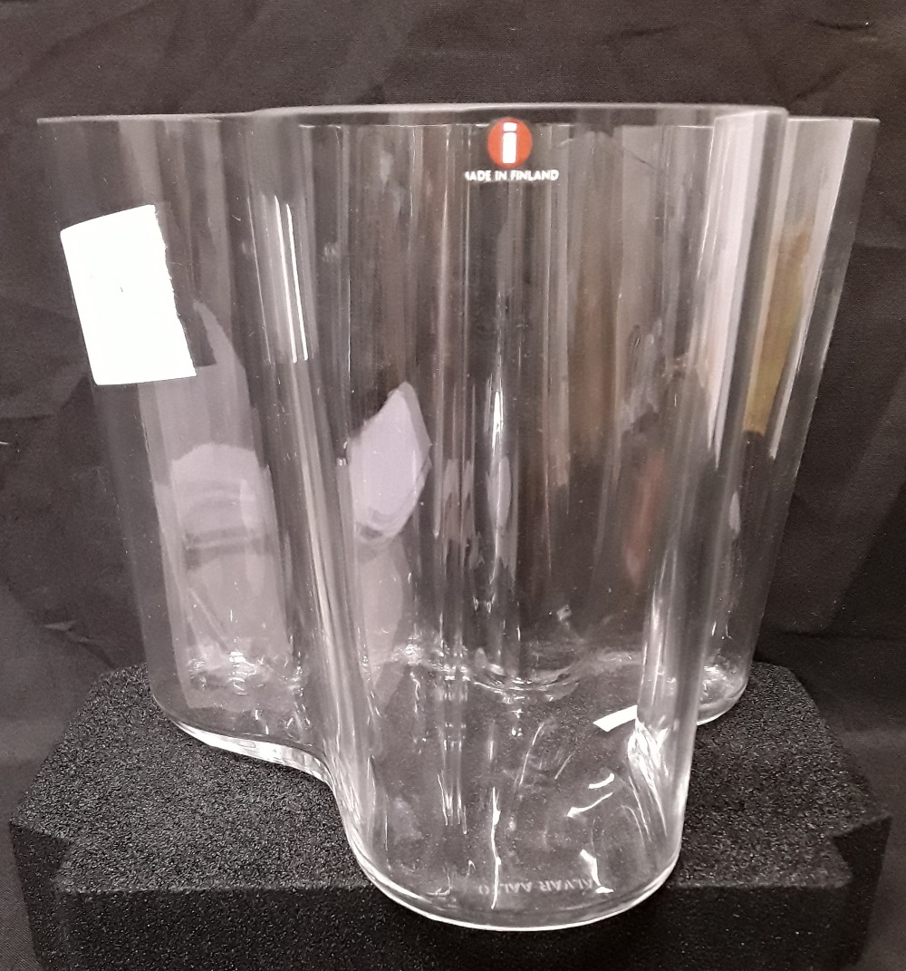 Lot 8 - An Alvar Aalto glass vase. Made in Finland.