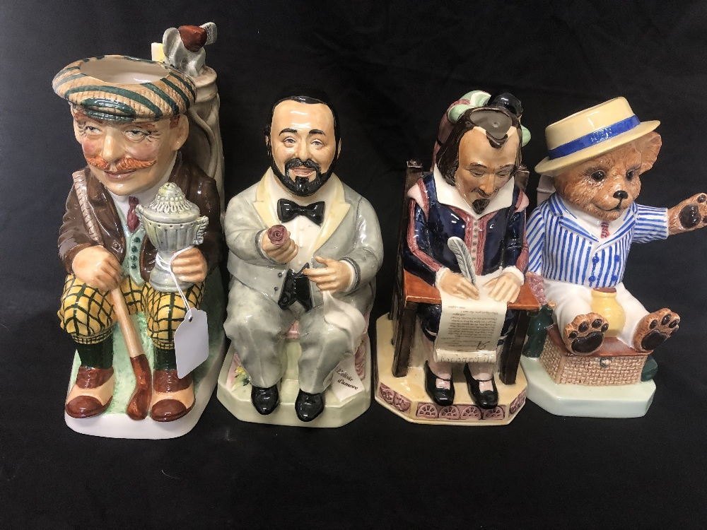 Lot 16 - A set of four toby jugs by Kevin Francis.