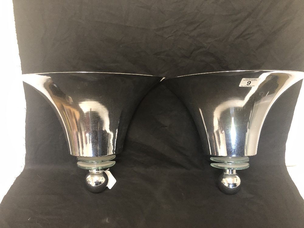 Lot 9 - A pair of Art Deco uplighters from the Savoy Hotel London.