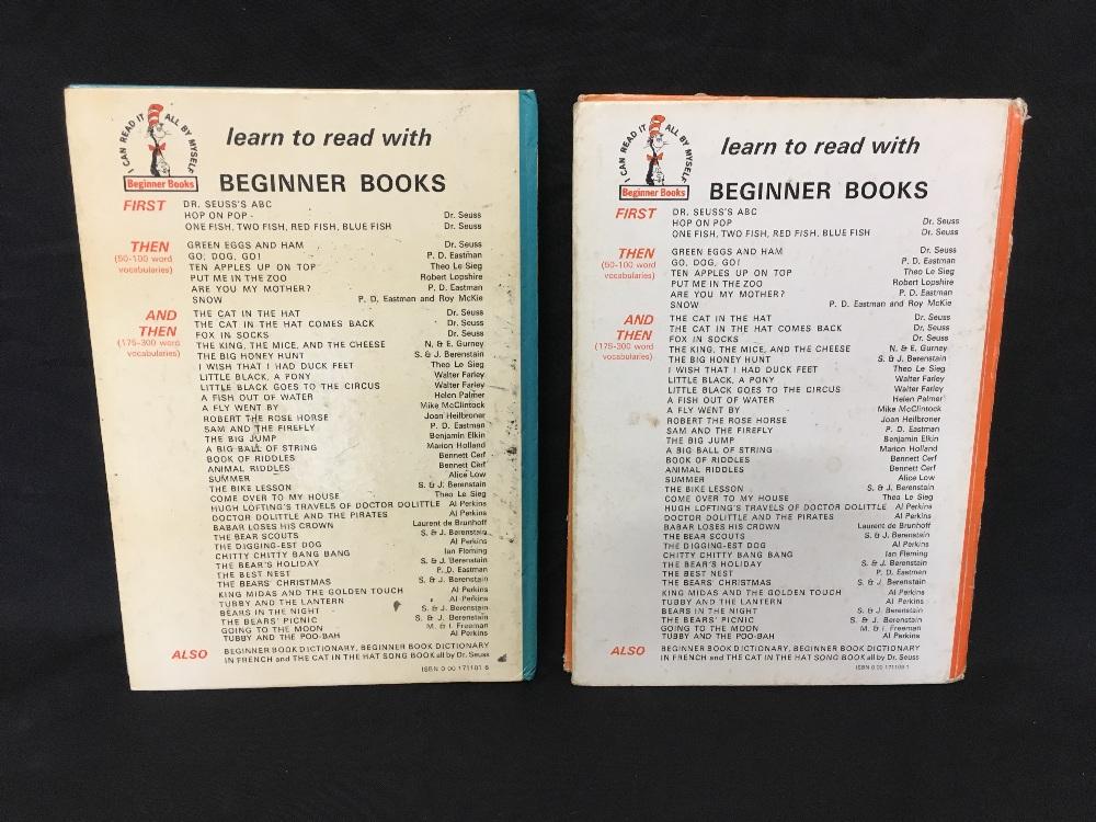 Lot 42 - Two original books by Dr Seuss.