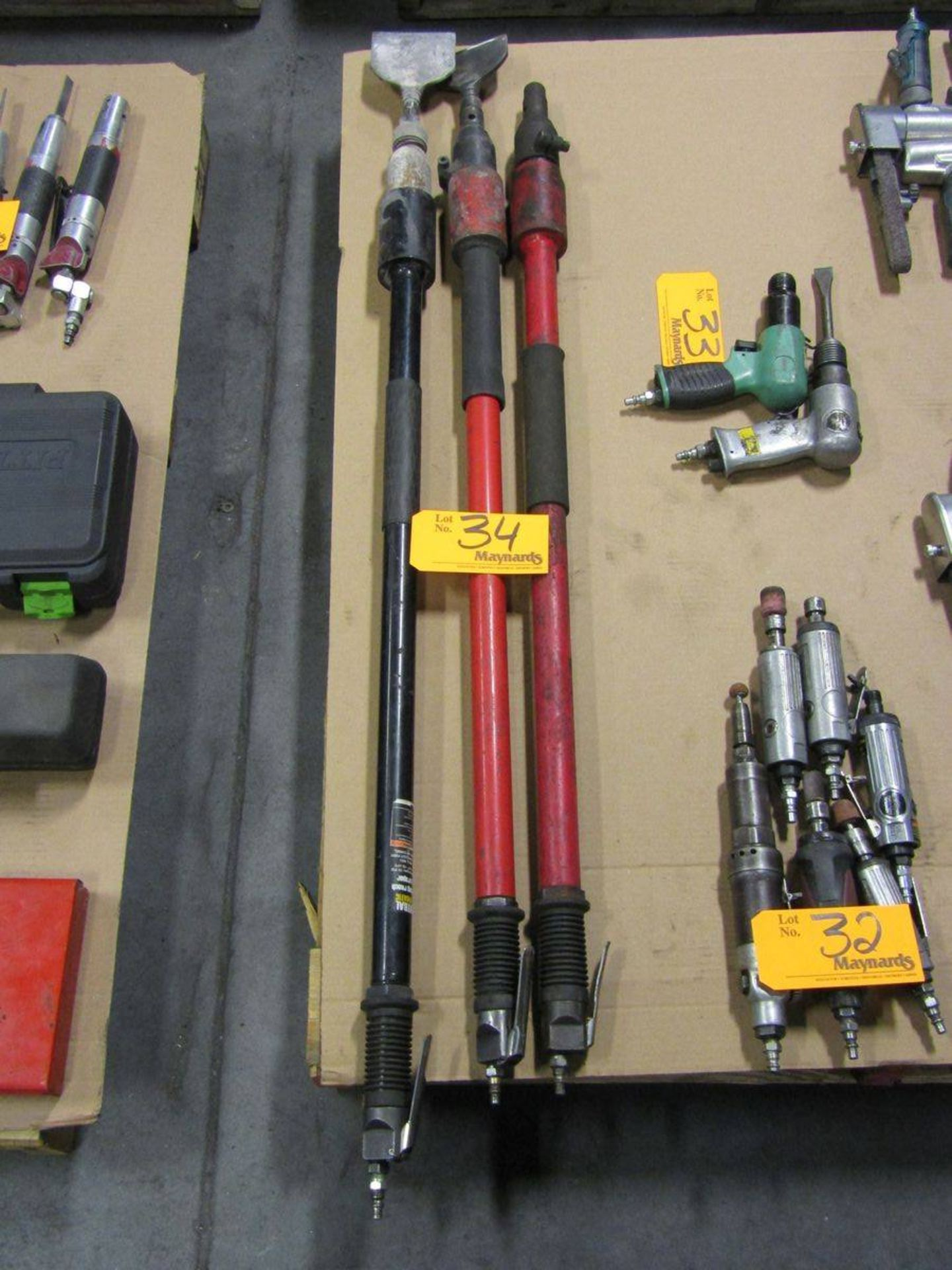 "Lot 34 - 42"" Pneumatic Long Reach Scrapers"