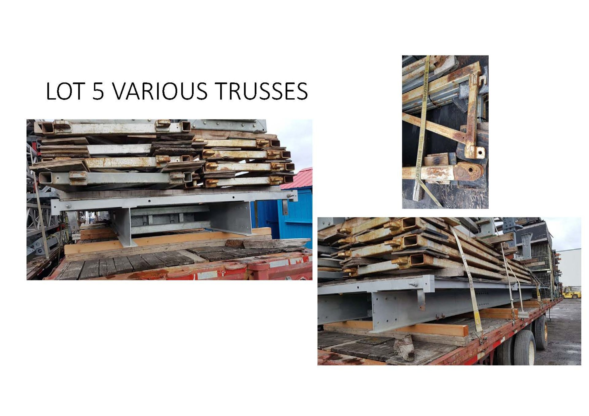 Lot 5 - Steel Truss and bridge lot