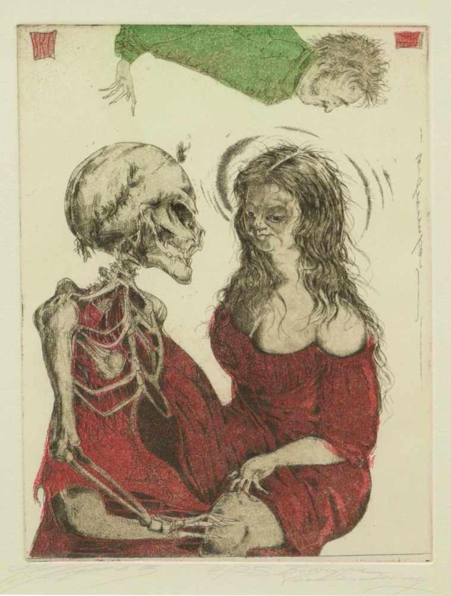 Klenner- Otto, Stephan - Paar Farbradierungen aus E.T.A. Hoffmann Rath Krespel 2004Teil der - Bild 3 aus 5