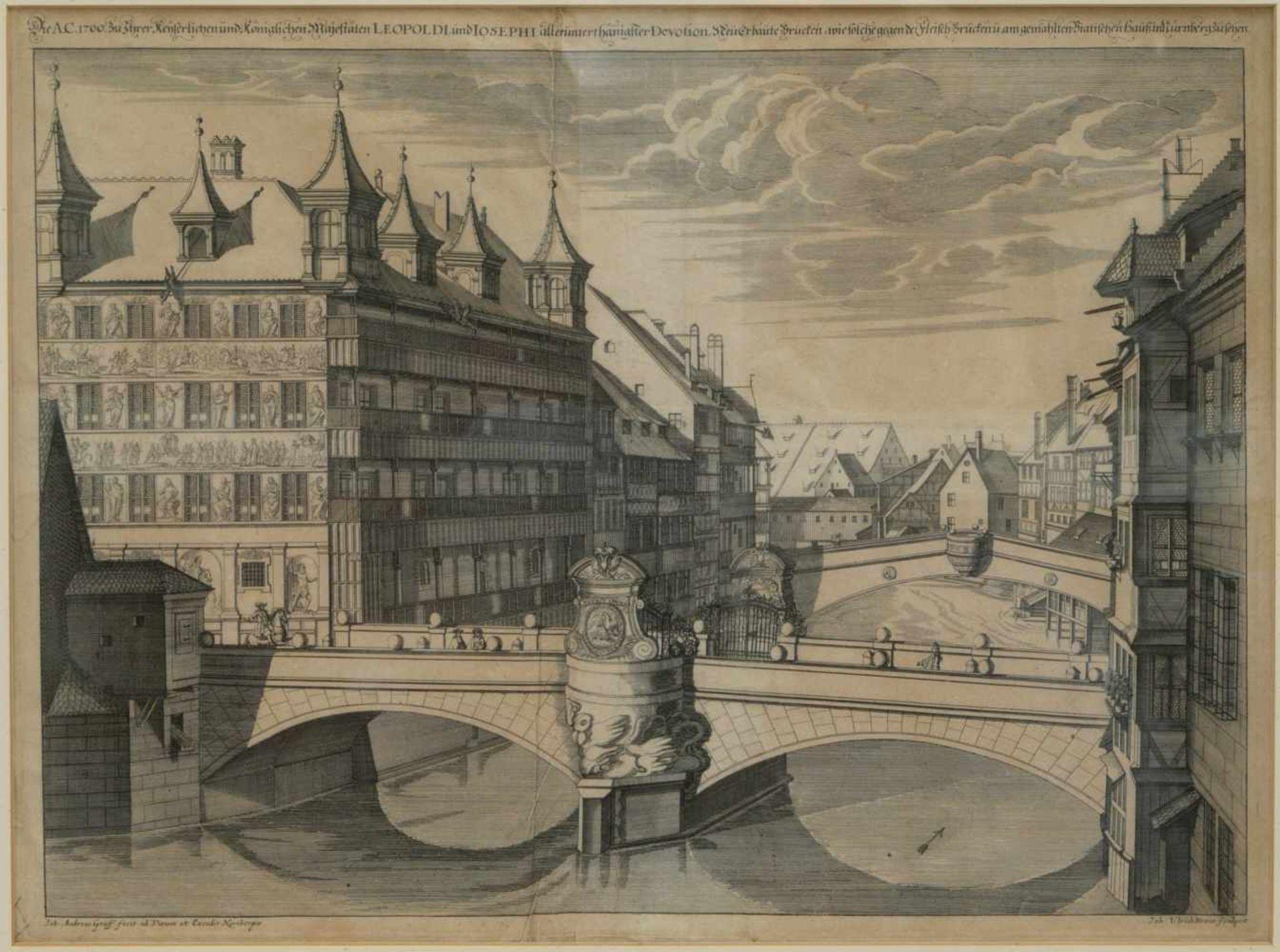 Los 20 - Graff, Johann Andras (1637-1701) - Die A. C. 1700 Neuerbaute Brucken wie solche gegen der