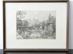 Selzer Carl (1872 -1939) - Vom Mohrentor Blick auf die Burg Lithografie 1913Blick durch den