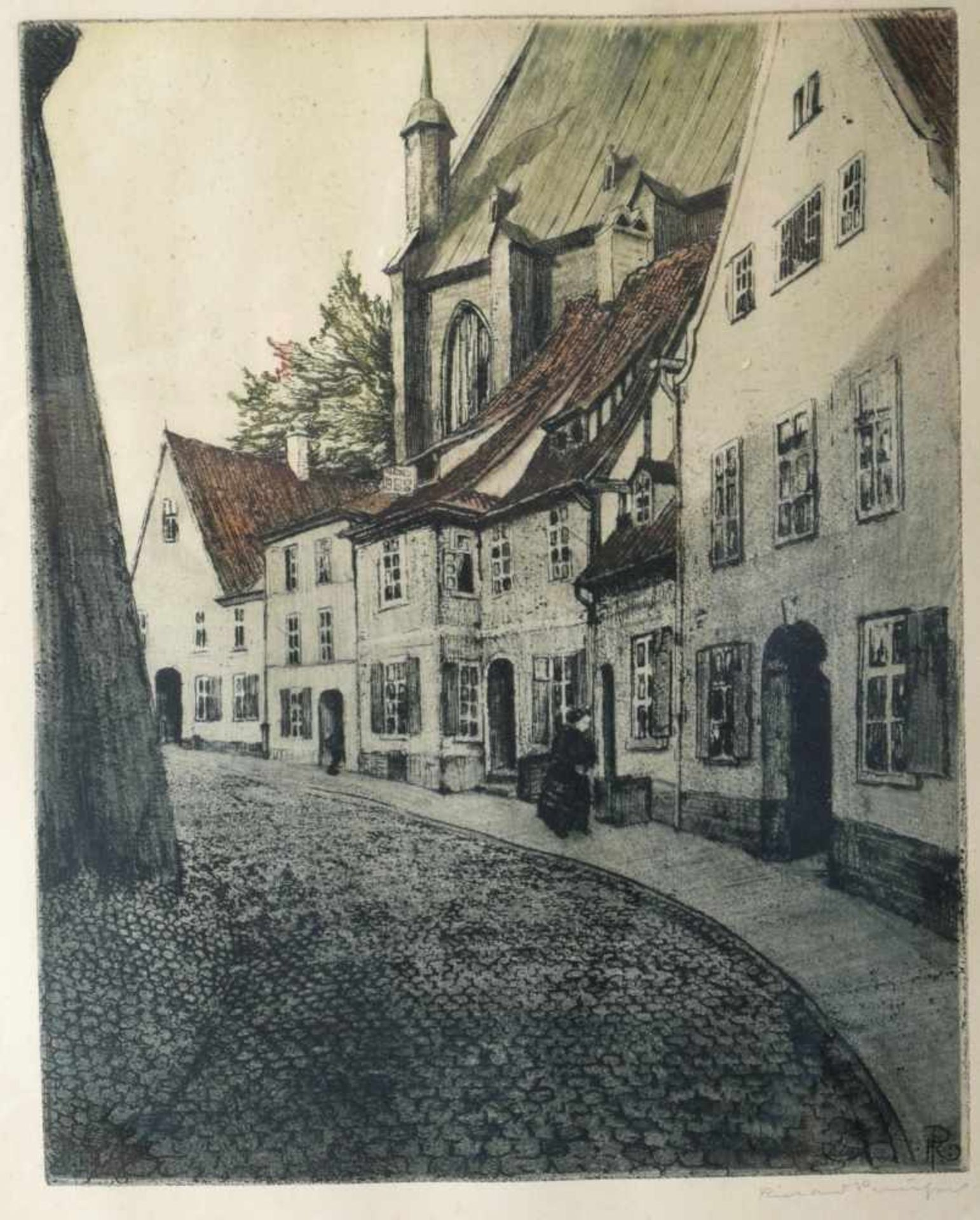 Los 13 - Rabl, Wolfgang (1943) - Farbradierung Dame in Rot Epreuve d´Artiste 1969Ausbalanciert komponierte