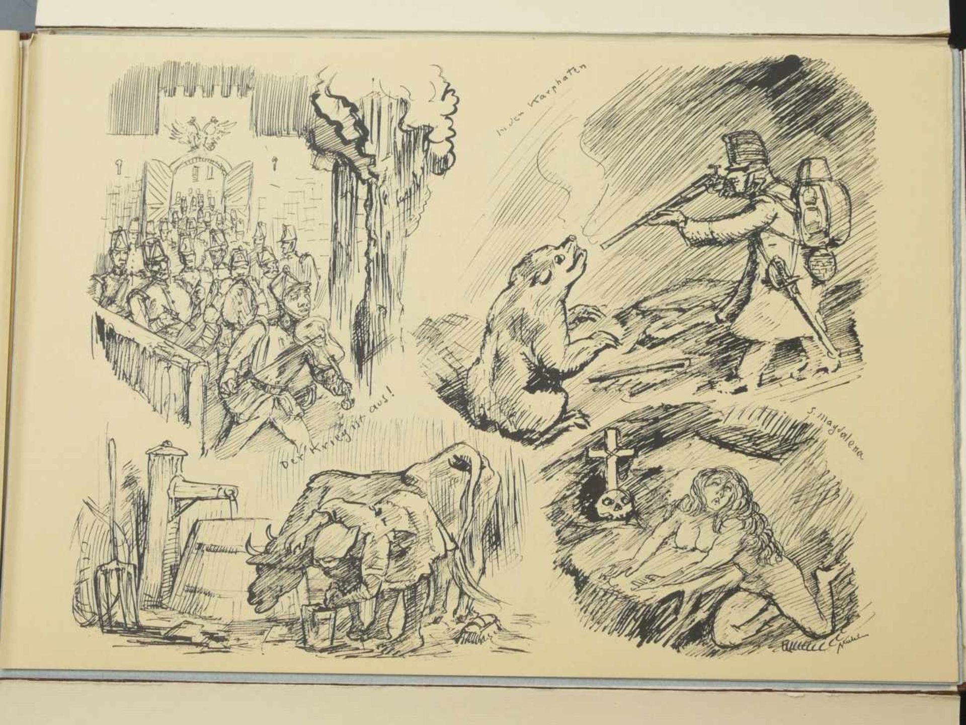Los 49 - Kubin, Alfred (1877-1959) - Orbis Pictus Grafikmappe 1930 259/300Werk leider nicht vollständig.