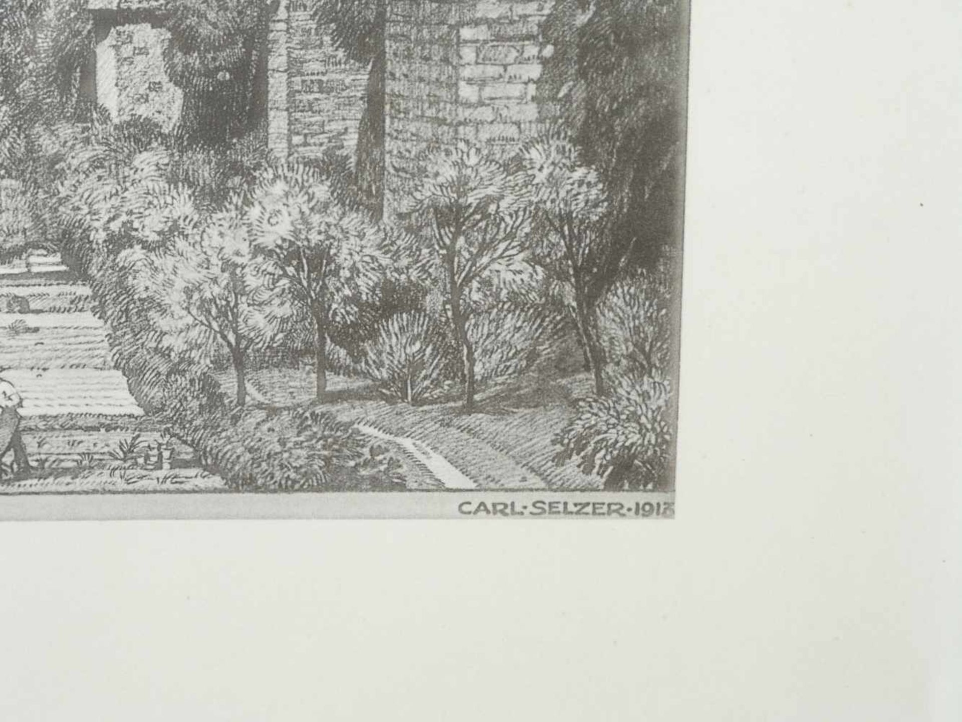 Los 23 - Selzer Carl (1872 -1939) - Vom Mohrentor Blick auf die Burg Lithografie 1913Blick durch den
