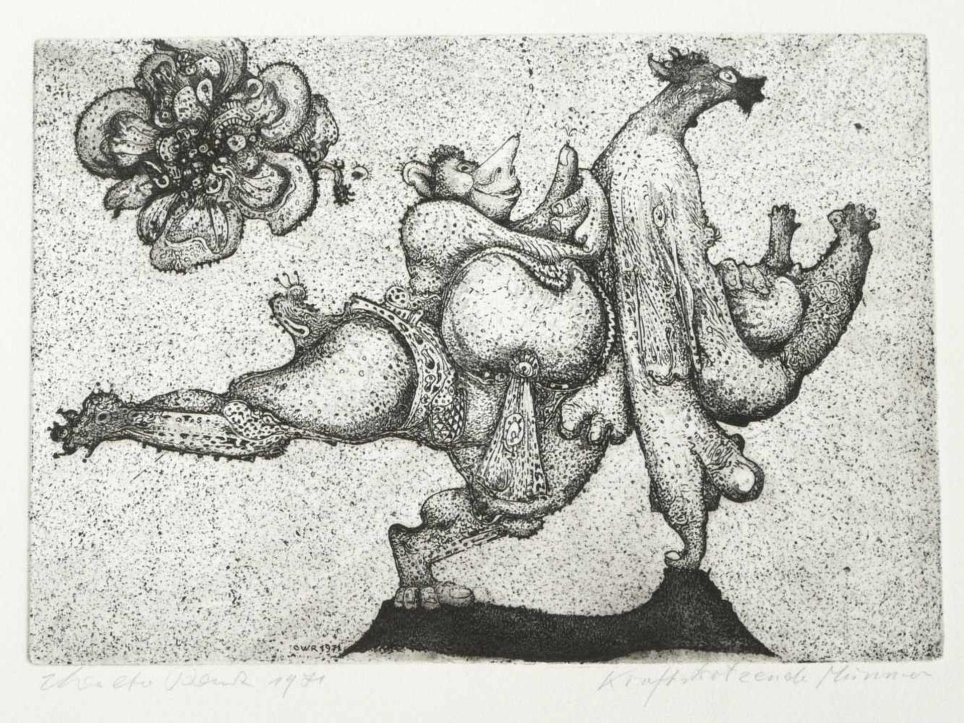 Los 59 - Rauh, Caspar Walter (1912-1983) - 9 Blätter RadierungenNeun lose Blätter mit Radierungen des