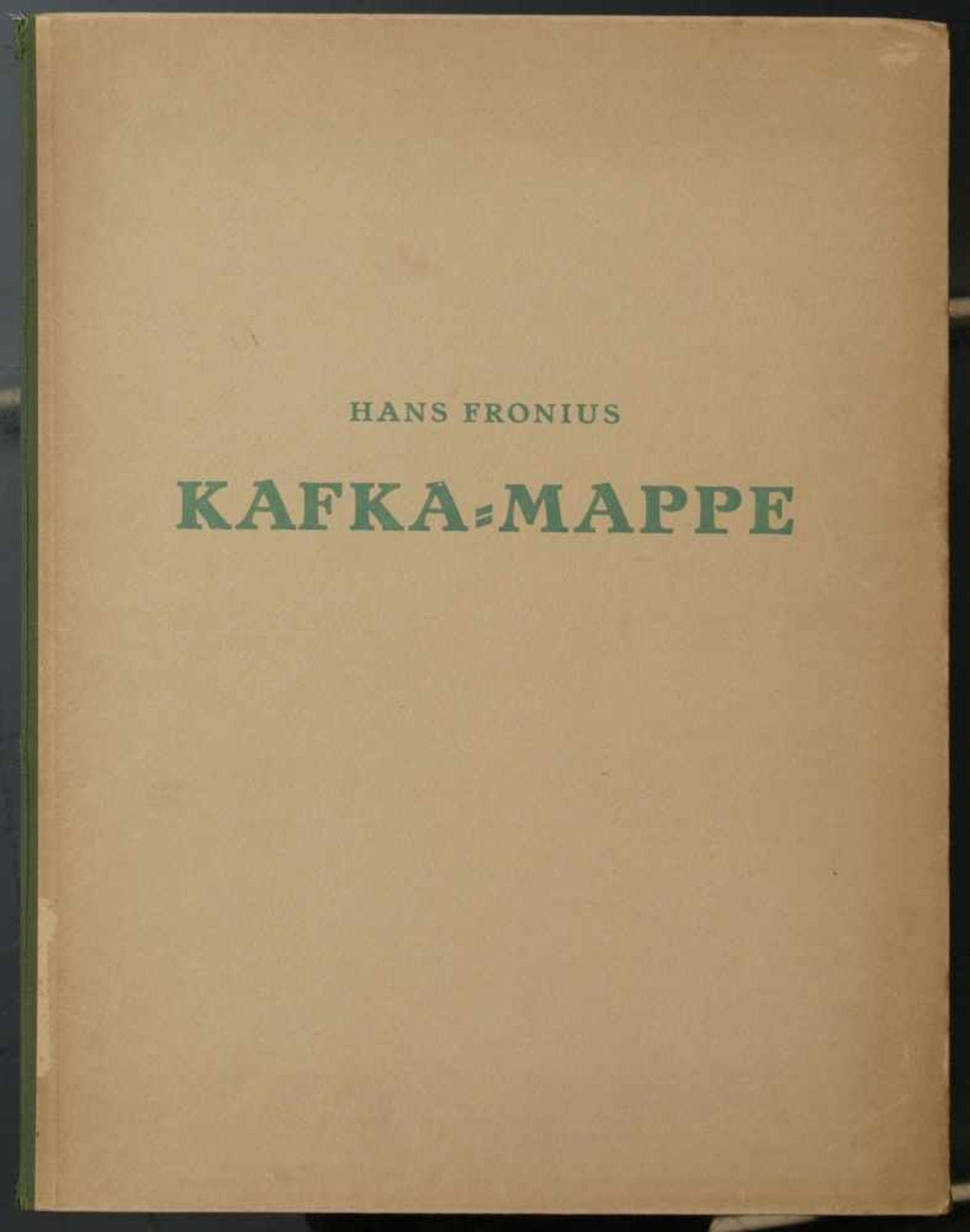 Los 50 - Fronius, Hans (1903-1988) - Kafka Mappe Wien 1946 10 BlattZehn Lichtdrucke nach