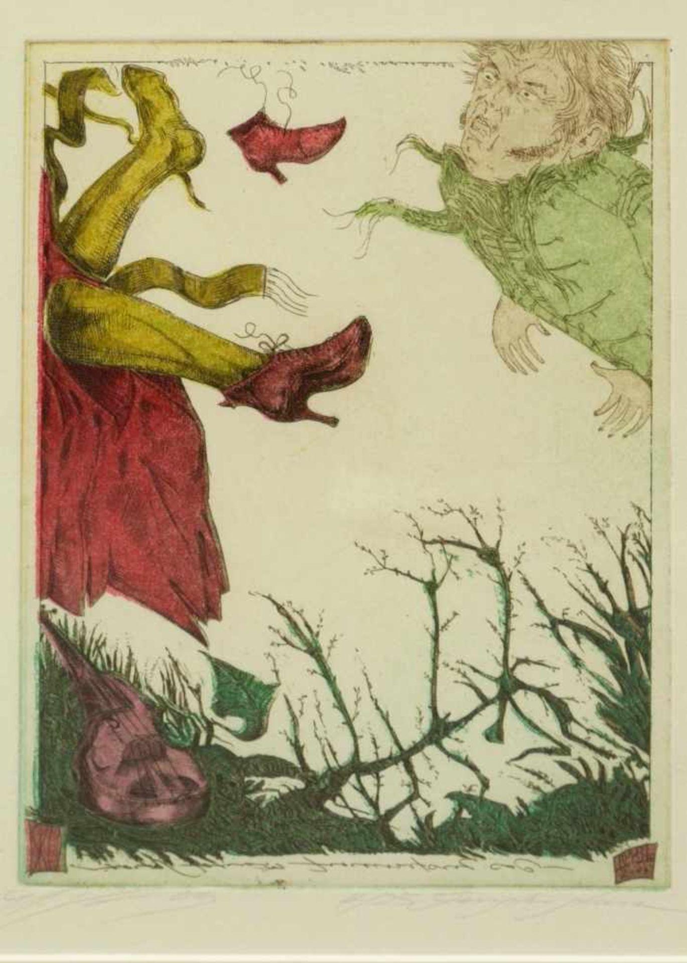 Klenner- Otto, Stephan - Paar Farbradierungen aus E.T.A. Hoffmann Rath Krespel 2004Teil der - Bild 2 aus 5