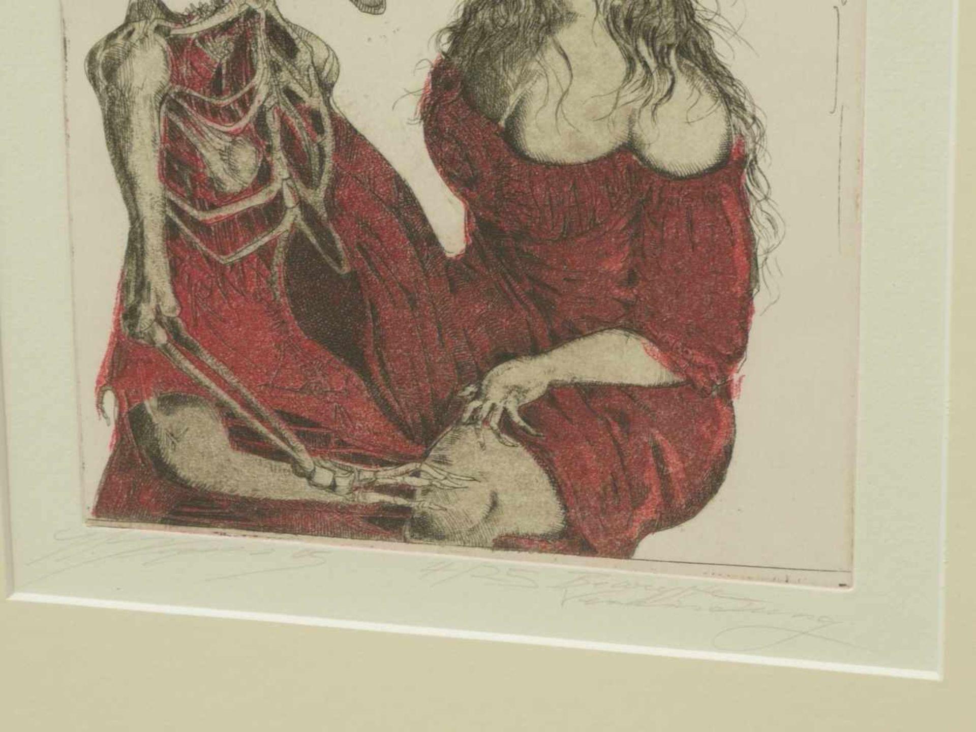 Klenner- Otto, Stephan - Paar Farbradierungen aus E.T.A. Hoffmann Rath Krespel 2004Teil der - Bild 4 aus 5