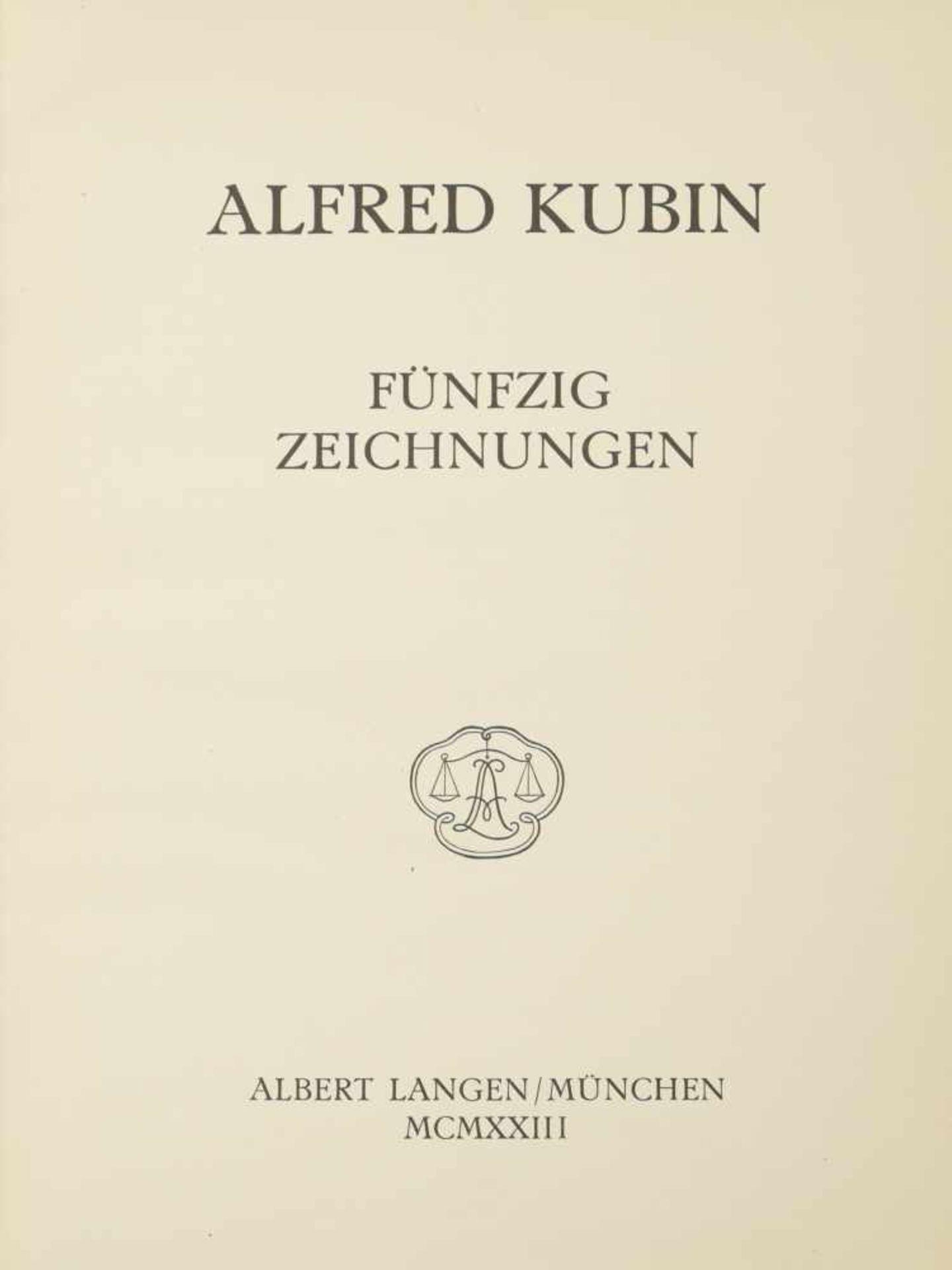 Los 54 - Kubin, Alfred (1877-1959) - Album 50 Zeichnungen 1923Verlag bei Albert Langen, München.
