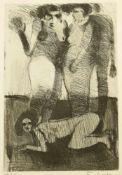 Frohner, Adolf (1934-2007) - Radierung Frauenakte 49/100Ausdrucksstarke Darstellung dreier