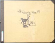 Kubin, Alfred (1877-1959) - Mappe Rauhnacht 13 Steinzeichnungen 1925Mappe mit 13 lose eingelegten