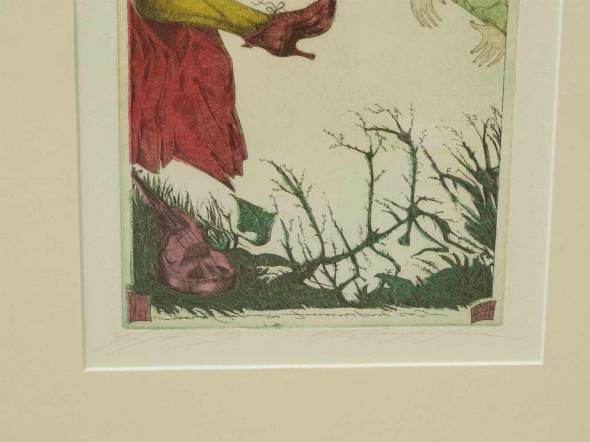Klenner- Otto, Stephan - Paar Farbradierungen aus E.T.A. Hoffmann Rath Krespel 2004Teil der - Bild 5 aus 5