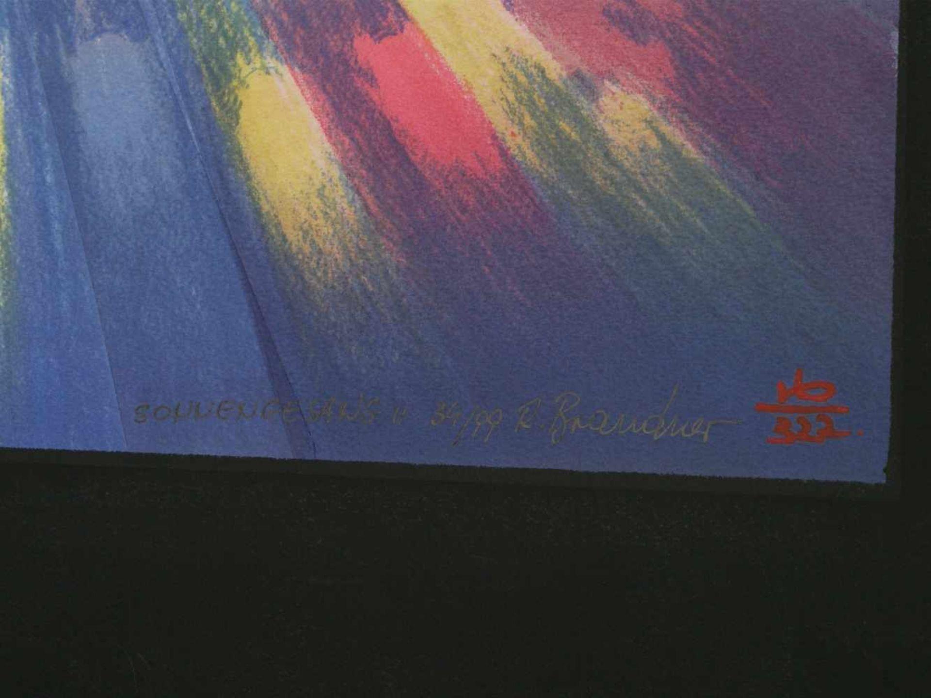 Los 35 - Brandner, Reinhard (1938) - Sonnengesang II und IV Manugrafien 34/99 und 51/99Aufregende
