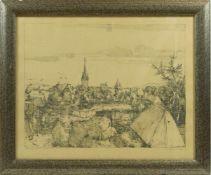 Griebel, Fritz (1899-1976) - nach Albrecht Dürer: Heroldsberg im Jahre 1510 Radierung 1937Blick