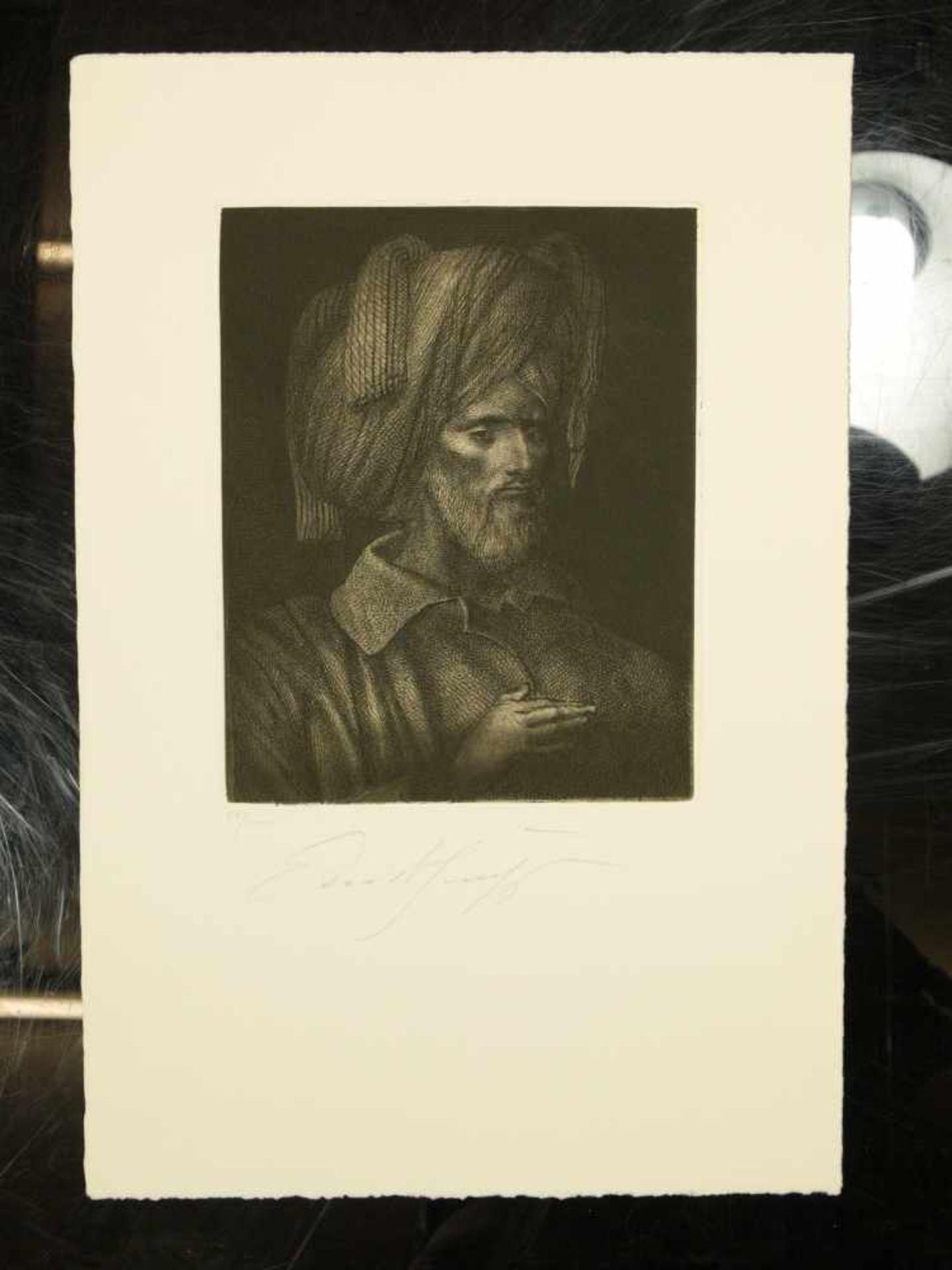 Los 47 - Fuchs, Ernst (1930-2015) - Radierung Portrait eines Propheten 52/1000Fein gestochene Darstellung