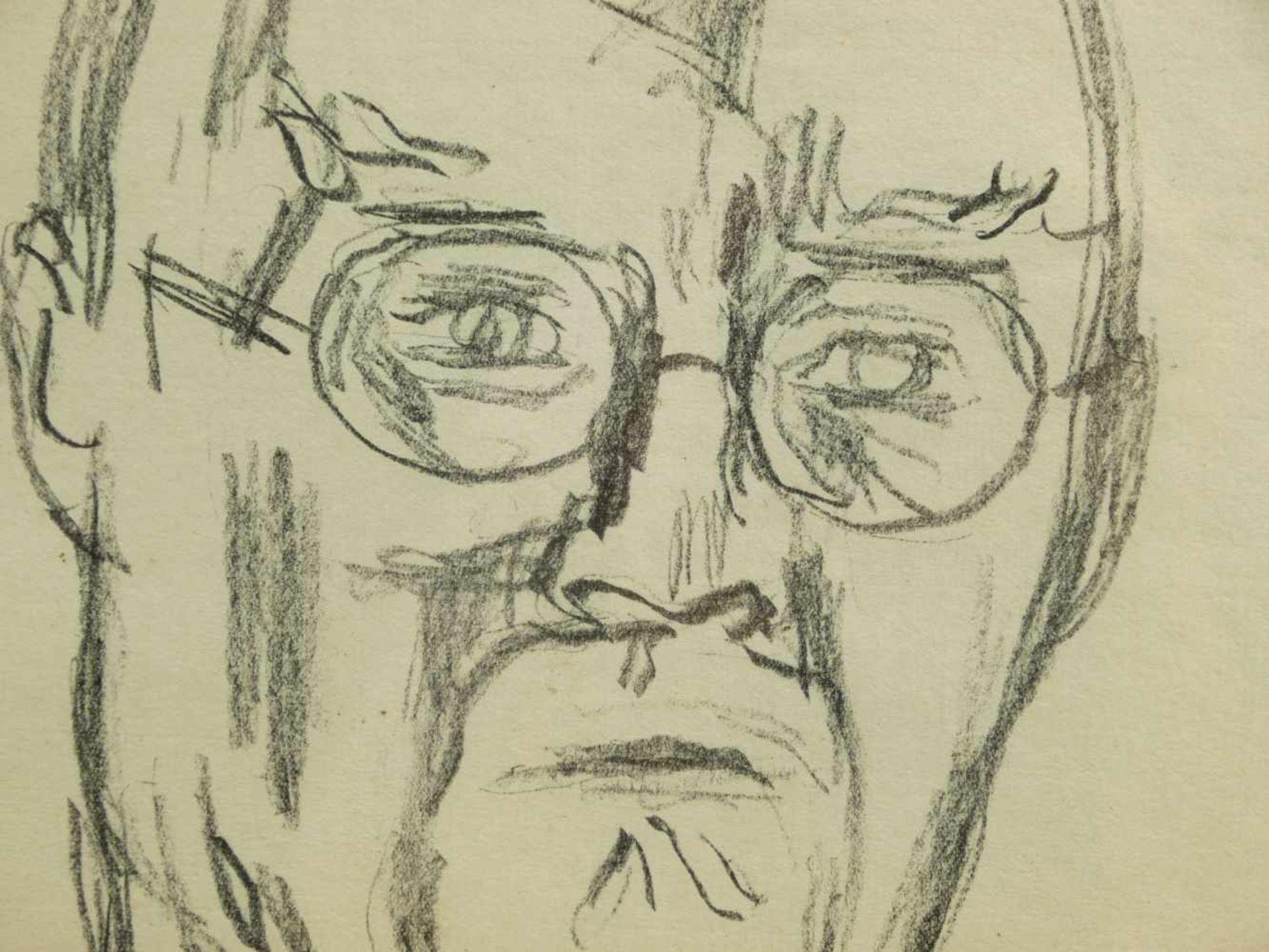 Los 5 - Caspar, Karl (1879-1956) - Portrait Zeichnung des Künstlers Arthur Rappl (1904-1968) 1929Im