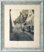 Rabl, Wolfgang (1943) - Farbradierung Dame in Rot Epreuve d´Artiste 1969Ausbalanciert komponierte