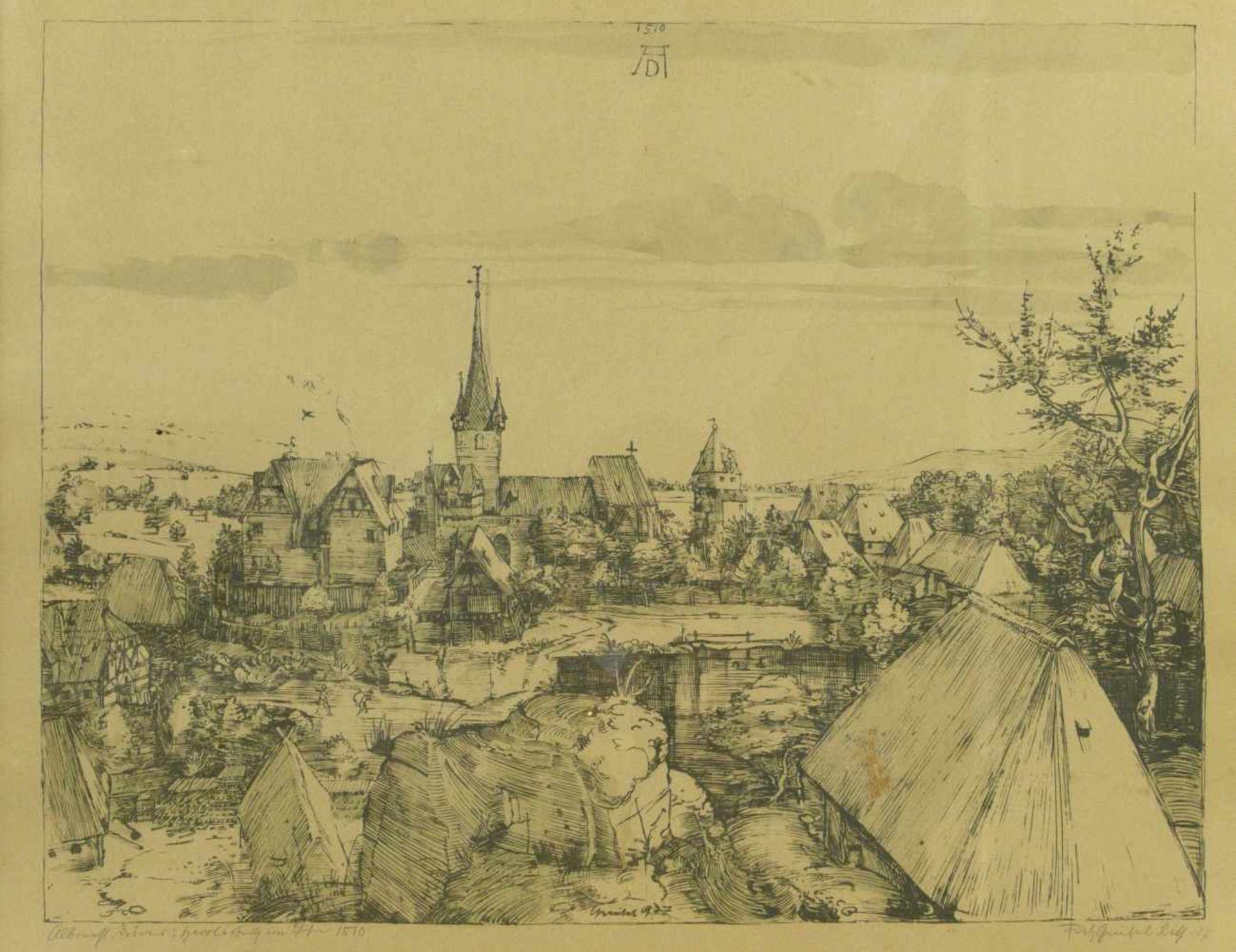 Los 11 - Griebel, Fritz (1899-1976) - nach Albrecht Dürer: Heroldsberg im Jahre 1510 Radierung 1937Blick