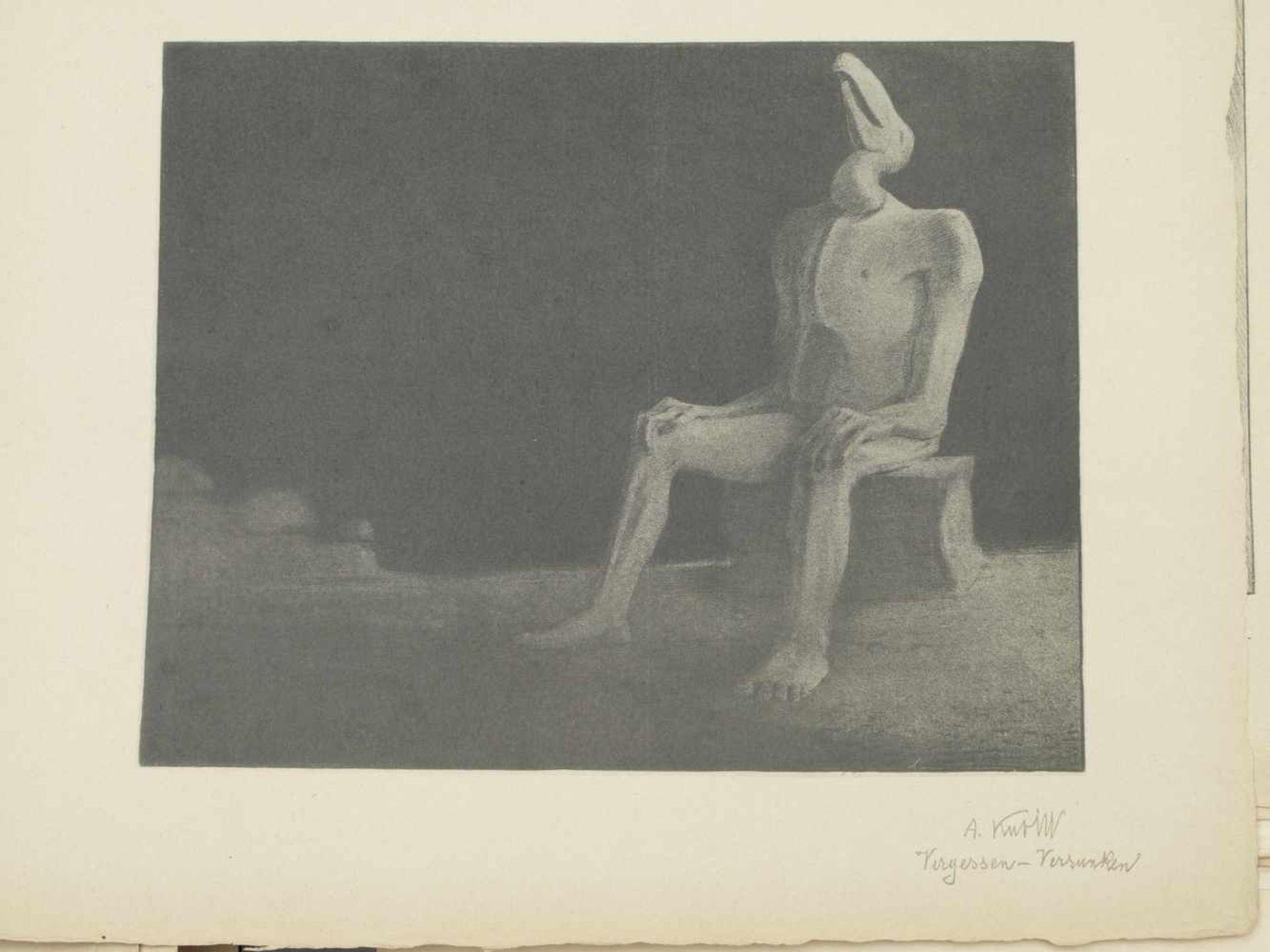 Los 58 - Kubin, Alfred (1877-1959) - Mappe Fünfzehn Facsimiledrucke München 1903Diese seltene und frühe