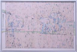 Dauphin, Peter genannt Muth (Nürnberg 1957) - Großformatiges Gemälde SavanneAbstraktes Querformat,