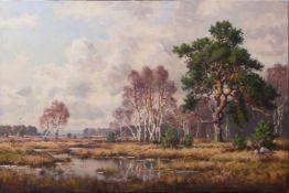 Hanft, Willy (1888-1987) - Moorlandschaft bei BurgwedelDer Blick führt über eine weite, flache