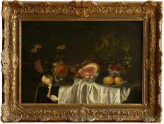 Coosemans, Alexander (1627-1689) - Stillleben mit Wein und ZitrusfrüchtenDargestellt ist ein