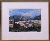 Fußmann, Klaus (1938) - Florenz Aquarell 1983Seltene Landschaftsdarstellung des Künstlers. Florenz