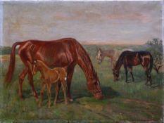 Becker, Max Josef (1890-1971) - FohlenweideIn typischer Manier des Münchner Tiermalers ausgeführte