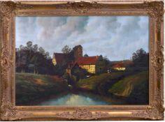 Bolland-Riedel, Helmut (20. Jhd.) - MühlenanwesenGefällige Darstellung eines weitläufigen Anwesens