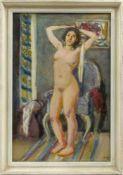 Jäger, Wolfgang (1890-1975) - Stehender Frauenakt um 1969Ansicht eines hellen, farbenfrohen