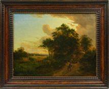 Gebhardt, Friedrich Wilhelm (1827-1893) - Abendliche WaldandachtQuerformatige, zweigeteilte Ansicht,